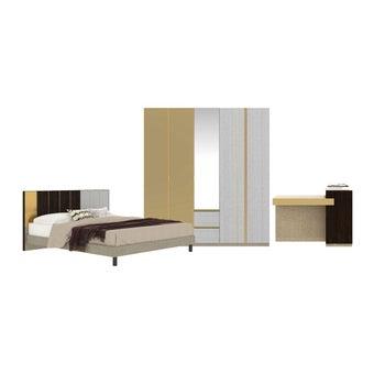 ชุดห้องนอน ชุดห้องนอนขนาด 5 ฟุต รุ่น Aureus สีสีขาว-SB Design Square