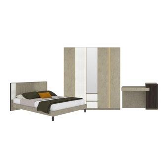 ชุดห้องนอน ชุดห้องนอนขนาด 6 ฟุต รุ่น Aureus สีสีครีม-SB Design Square