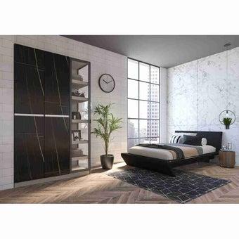 ซีรีย์ตู้เสื้อผ้า ตู้เสื้อผ้าบานเปิด รุ่น Wardrobe Plus สีสีดำ-SB Design Square