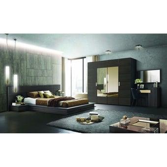 ชุดห้องนอน ชุดห้องนอนขนาด 5 ฟุต รุ่น Zen สีสีเข้มลายไม้ธรรมชาติ-SB Design Square