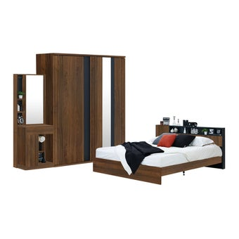 ชุดห้องนอนขนาด 5 ฟุต รุ่น Rex สีไม้เข้ม01