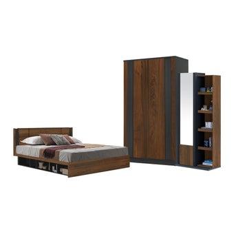 ชุดห้องนอน ขนาด 6 ฟุต รุ่น Patinal สีลายไม้ธรรมชาติ-00