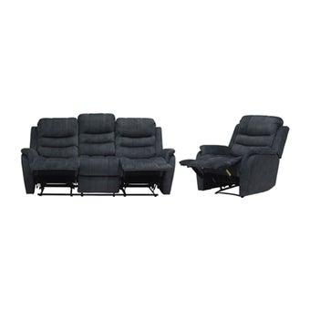 เก้าอี้พักผ่อนผ้า เก้าอี้พักผ่อน 3 ที่นั่ง รุ่น Zalora สีสีเทา-SB Design Square