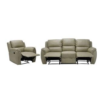 เก้าอี้พักผ่อนหนังสังเคราะห์ รุ่น Soly สีสีครีม-SB Design Square