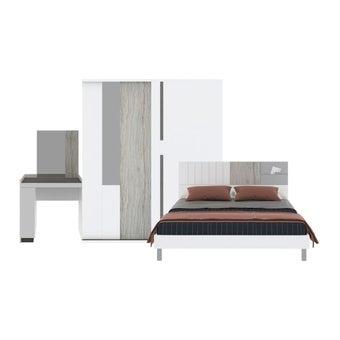 ชุดห้องนอน ชุดห้องนอนขนาด 6 ฟุต รุ่น Econi-B สีสีขาว-SB Design Square