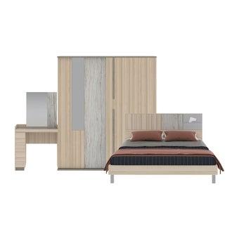 ชุดห้องนอน ชุดห้องนอนขนาด 5 ฟุต รุ่น Econi-B สีสีโอ๊คอ่อน-SB Design Square