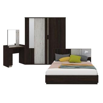 ชุดห้องนอน ขนาด 5 ฟุต รุ่น Econi-B สีเข้มลายไม้ธรรมชาติ-00