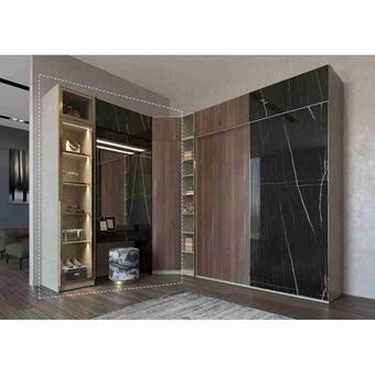 ซีรีย์ตู้เสื้อผ้า ซีรีย์ตู้ผ้า WD Plus รุ่น Wardrobe Plus สีสีดำ-SB Design Square