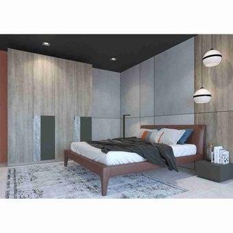 Wardrobe Prime ตู้เสื้อผ้าบานเฟี้ยม รุ่น Wardrobe Prime สีสีอ่อนลายไม้ธรรมชาติ-SB Design Square