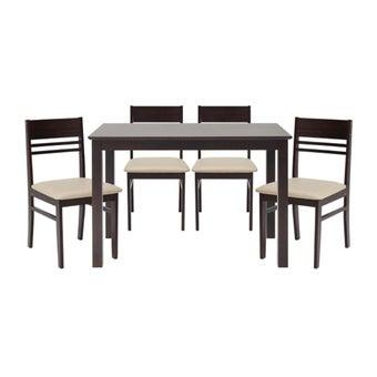 โต๊ะทานอาหาร โต๊ะอาหารไม้ล้วน รุ่น Newnano-SB Design Square