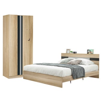 ชุดห้องนอน ขนาด 5 ฟุต รุ่น Harper ตู้บานเปิด 90 ซม. สีโอ๊ค-00