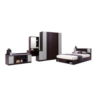 ชุดห้องนอน ชุดห้องนอน รุ่น Monteo สีสีเข้มลายไม้ธรรมชาติ-SB Design Square
