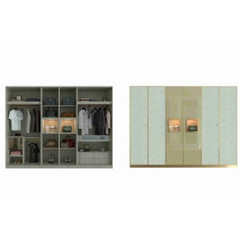 Wardrobe Plus ตู้เสื้อผ้า ขนาด 300 cm. POSH ATELIER