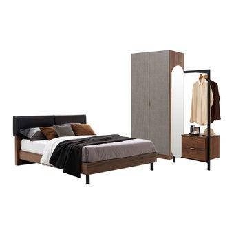 ชุดห้องนอน ขนาด 6 ฟุต รุ่น Tavern สีลายไม้ธรรมชาติ-00