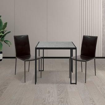 โต๊ะทานอาหาร โต๊ะอาหารขาเหล็กท๊อปหิน รุ่น Fukuoka-SB Design Square
