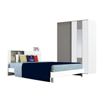 ชุดห้องนอน ชุดห้องนอน รุ่น Spazz สีสีขาว-SB Design Square