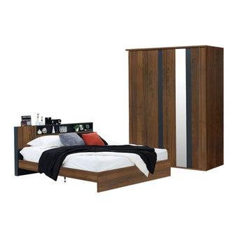 ชุดห้องนอน รุ่น Rex สีไม้เข้ม1