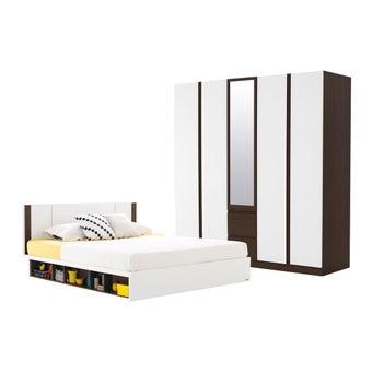 ชุดห้องนอน ขนาด 5 ฟุต รุ่น Patinal สีเข้มลายไม้ธรรมชาติ-00