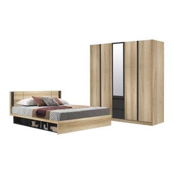 ชุดห้องนอน ขนาด 5 ฟุต รุ่น Patinal สีโอ๊ค