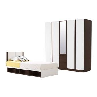 ชุดห้องนอน ขนาด 3.5 ฟุต รุ่น Patinal สีเข้มลายไม้ธรรมชาติ-00