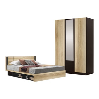ชุดห้องนอน ขนาด 6 ฟุต รุ่น Patinal สีโอ๊ค-00