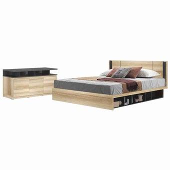 ชุดห้องนอน ขนาด 5 ฟุต Patinal & TV Tyler สีโอ๊ค-01