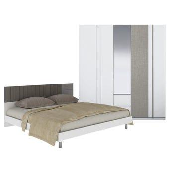 ชุดห้องนอน ขนาด 5 ฟุต รุ่น Econi สีขาว