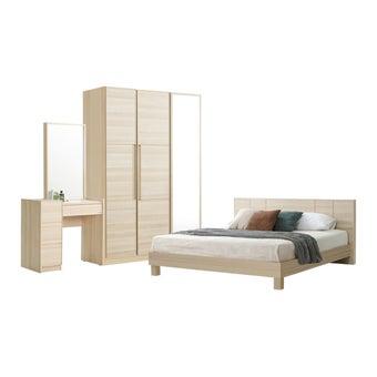 ชุดห้องนอน ขนาด 5 ฟุต รุ่น Hakone สีโอ๊คอ่อน