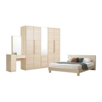 ชุดห้องนอน ขนาด 6 ฟุต รุ่น Hakone สีโอ๊คอ่อน-00