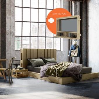 ชุดห้องนอน ขนาด 6 ฟุต รุ่น Pallet สีโอ๊ค01