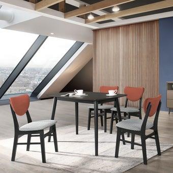 โต๊ะทานอาหาร โต๊ะอาหารไม้ล้วน รุ่น Inter สีสีดำ-SB Design Square