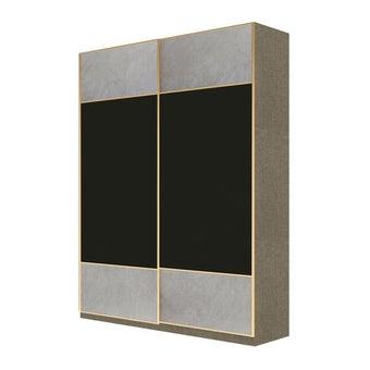 Wardrobe Prime ตู้เสื้อผ้าบานเลื่อน รุ่น Wardrobe Prime สีสีเทา-SB Design Square