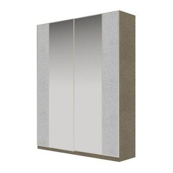 Wardrobe Prime ตู้เสื้อผ้าบานเลื่อน รุ่น Wardrobe Prime สีสีเงิน-SB Design Square