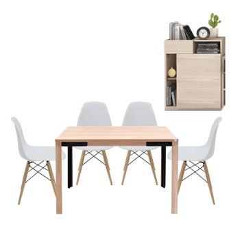 โต๊ะอาหาร รุ่น Coupe & เก้าอี้ รุ่น Soto & ตู้เตี้ย รุ่น Spazz