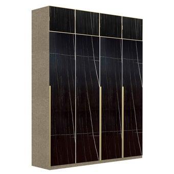 ตู้เสื้อผ้า ขนาด 200 ซม. รุ่น Wardrobe Plus สีดำ01