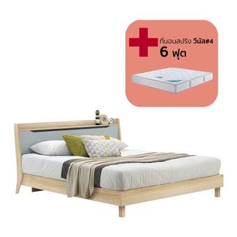 ชุดห้องนอน ขนาด 6 ฟุต รุ่น Backus สีโอ๊ค-00