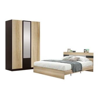 ชุดห้องนอน ขนาด 6 ฟุต รุ่น Harper สีโอ๊ค-00