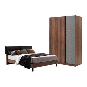 ชุดห้องนอน ชุดห้องนอน รุ่น Tavern สีสีลายไม้ธรรมชาติ-SB Design Square