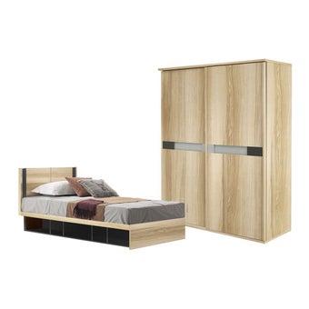 ชุดห้องนอน ขนาด 3.5 ฟุต รุ่น Patinal สีโอ๊ค-00