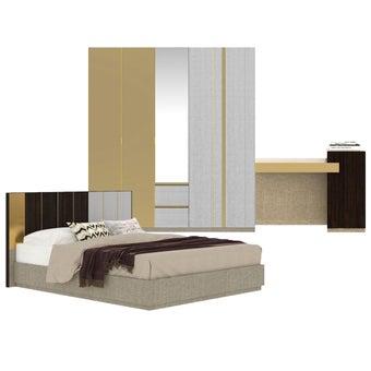 ชุดห้องนอน ขนาด 6 ฟุต รุ่น Aureus สีขาว-00