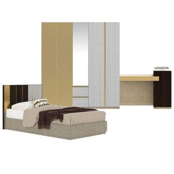ชุดห้องนอน ขนาด 3.5 ฟุต รุ่น Aureus สีขาว-00