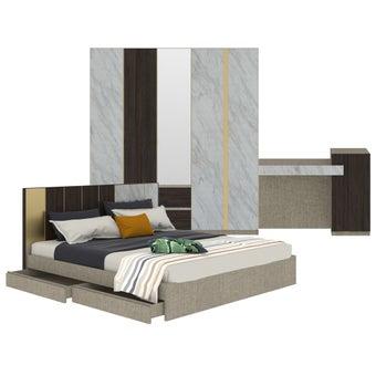 ชุดห้องนอน ขนาด 6 ฟุต รุ่น Aureus สีขาว