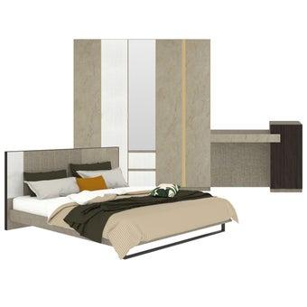 ชุดห้องนอน ขนาด 6 ฟุต รุ่น Aureus สีครีม-00