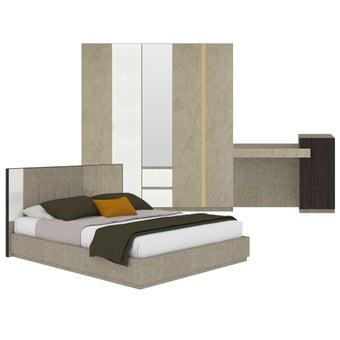 ชุดห้องนอน ขนาด 5 ฟุต รุ่น Aureus สีครีม-00
