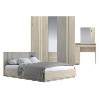 ชุดห้องนอน ขนาด 5 ฟุต รุ่น Econi สีโอ๊คอ่อน
