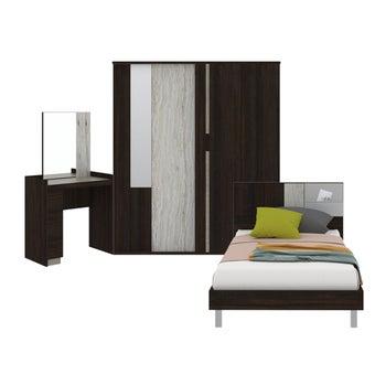 ชุดห้องนอน ขนาด 3.5 ฟุต รุ่น Econi สีเข้มลายไม้ธรรมชาติ-00