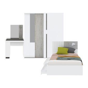 ชุดห้องนอน ขนาด 3.5 ฟุต รุ่น Econi สีขาว