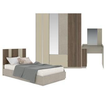 ชุดห้องนอน ขนาด 3.5 ฟุต รุ่น Estano สีน้ำตาลอ่อน-00