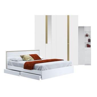 ชุดห้องนอน ขนาด 5 ฟุต รุ่น Glaze สีขาว-00