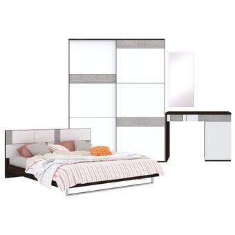 ชุดห้องนอน ขนาด 6 ฟุต รุ่น Palazzo สีเข้มลายไม้ธรรมชาติ-00